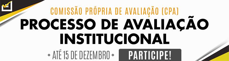 Banner sobre avaliação da CPA 2018
