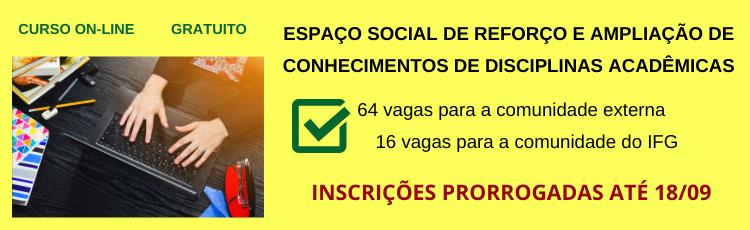 Banner Espaço Social de Reforço