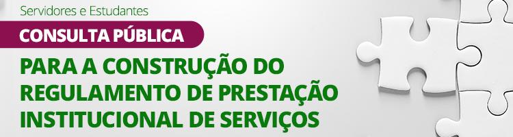 Consulta pública Regulamento de Prestação de Serviços