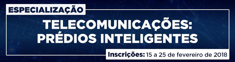 IFG oferta 30 vagas para especialização em Telecomunicações: Prédios Inteligentes
