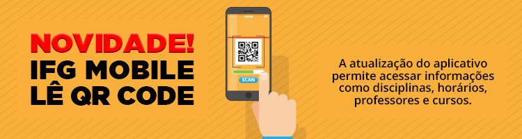 Ifg Mobile agora lê QR Code