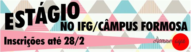 Banner - Estágio Externo no IFG