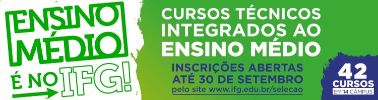 Abertas as inscrições para as seleção de cursos técnicos integrados ao ensino médio