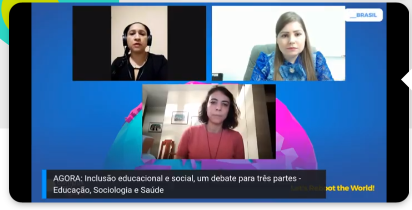 As professoras Raclene Ataide, Ana Beatriz de Freitas e Thais Marinho participam da Campus Party Digital