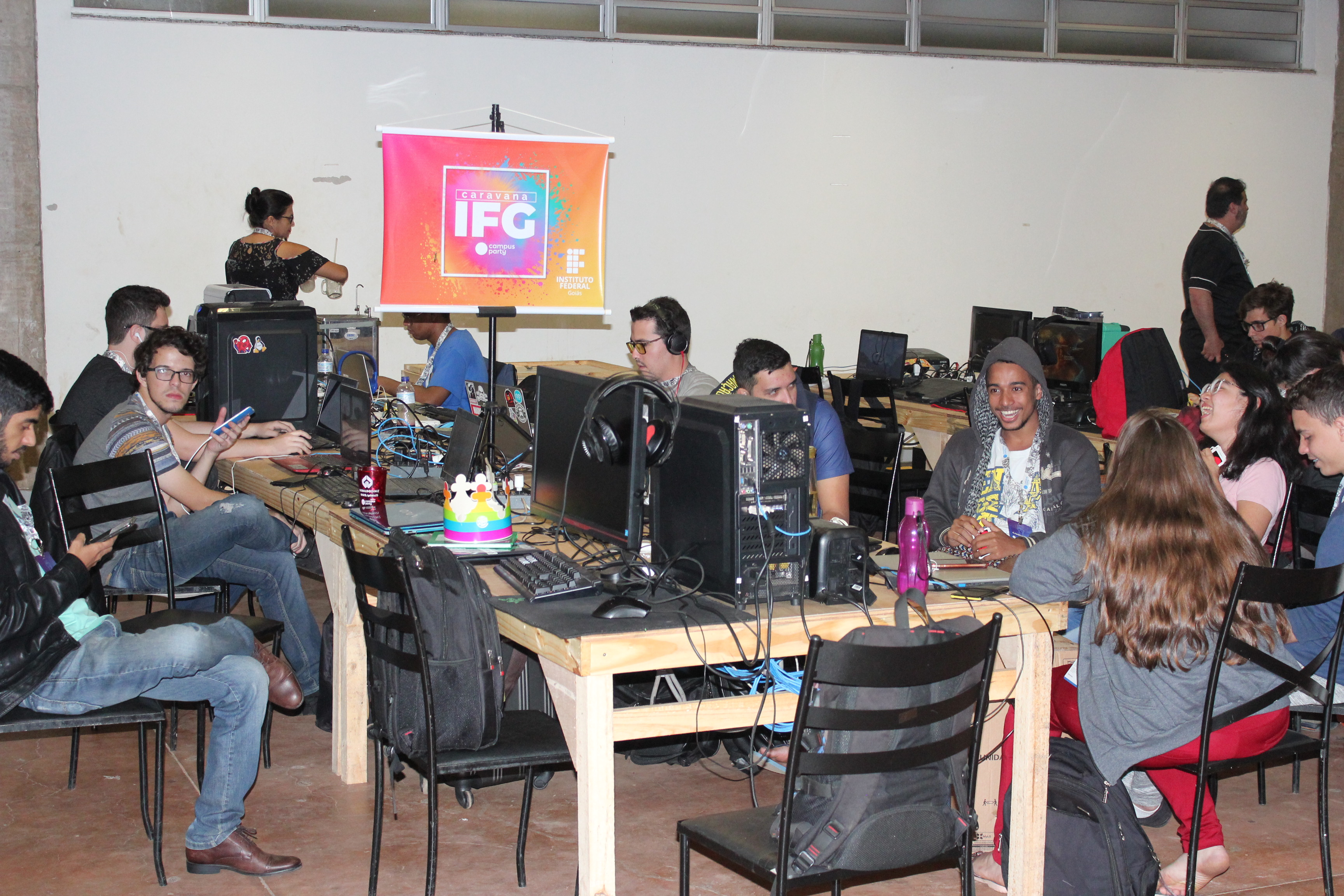Caranava do IFG na Campus Party Brasília